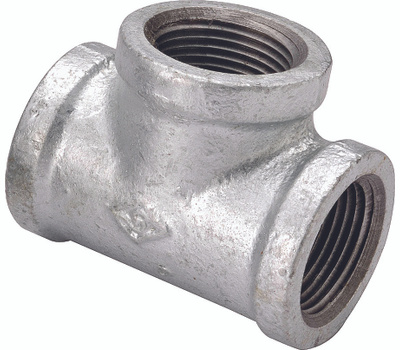 WorldWide Sourcing PPG130R-20X15X20 3/4 By 1/2 By 3/4 Inch Galvanized Tee