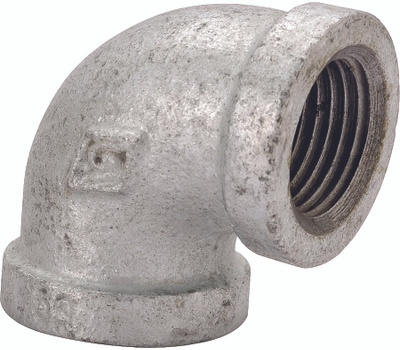 WorldWide Sourcing PPG90R-40X25 1-1/2 By 1 Galvanized 90 Degree Elbow