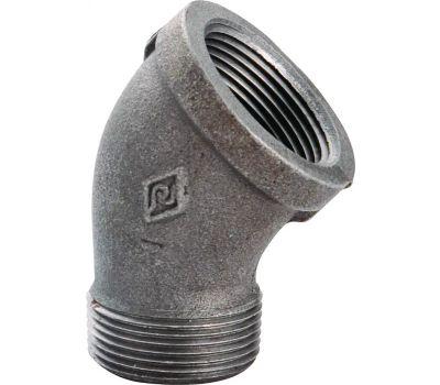 WorldWide Sourcing B121 32 1-1/4 Inch Black Pipe 45 Degree Street Elbow