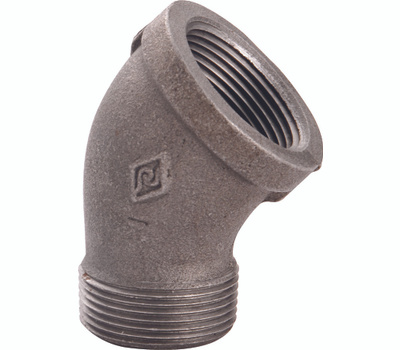 WorldWide Sourcing B121 20 3/4 Inch Black Pipe 45 Degree Street Elbow