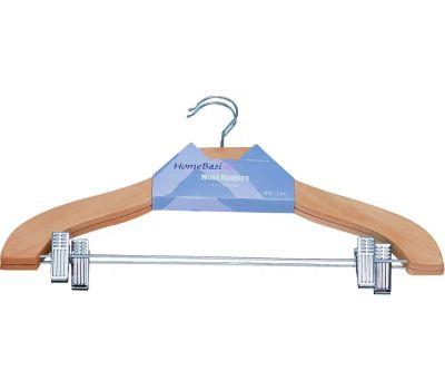 Simple Spaces HEA00043G-N 2 Clip Clothes Hanger Ntrl 2 Piece