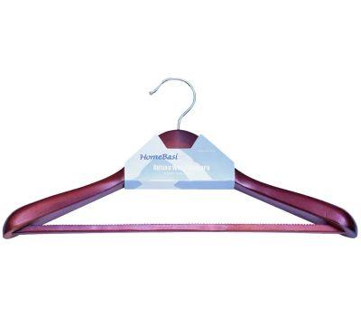 Simple Spaces HEA00046G Hanger Suit Wd Mhgny Nslip Pre
