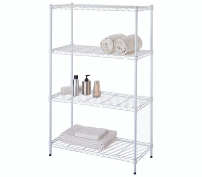 Simple Spaces SS-JR0404-WH 4 Tier Shelf White