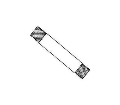 WorldWide Sourcing GN 1X48-S Prosource Galvanized Nipple, 1 in, Threaded, Galvanized Steel, 48 in L
