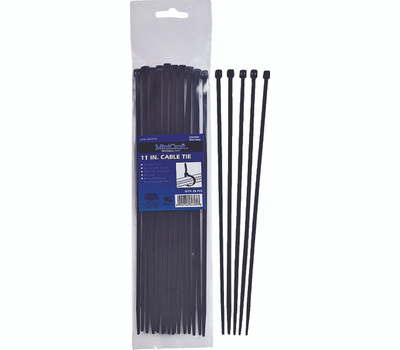 ProSource CV200SW-253L Cable Ties 8 Inch Long By 1/8 Inch 40 Pound Black 25 Pack