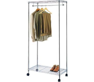 Simple Spaces SS-8058-90TCH-3L Rack Garment W/Wheels Chrm