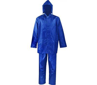 DiamondBack SPU045-XXL Rain Suit, 2xl, Polyester, Blue