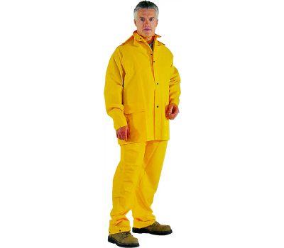 DiamondBack OX025PU-L Rain Suit, L, Oxford Polyester, Yellow, Detachable Collar