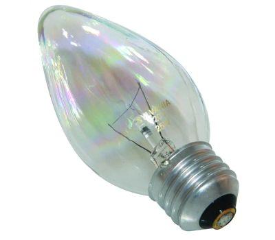 Sylvania 13821 25 Watt Light Bulbs Incandescent Flame F10 Clear 2 Pack