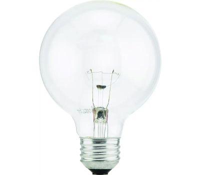 Sylvania 15871 40W G25 Clear Globe Bulb 3 Pack
