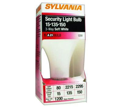 Sylvania 18009 15-135-150 Watt 3 Way Incandescent Security Bulb