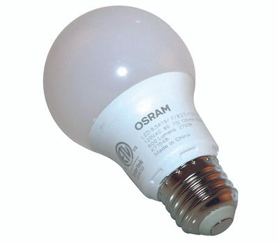 Sylvania 73886 Led Bulb, Semi-Directional, A19 Lamp, 60 W Equivalent, Medium (E26) Lamp Base, Frosted