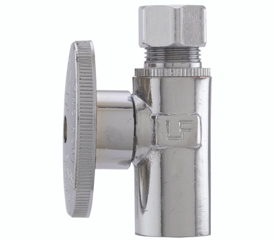 Plumb Pak PP61-1PCLF 1/2 Inch Sweat By 1/2 Inch Compression Quarter Turn Straight Valve