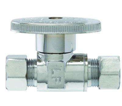 Plumb Pak PP2071LF 3/8 Od Compression By 3/8 Od Compression Quarter Turn Straight Valve