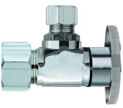 Plumb Pak PP20061LF 1/2 Nom Compression By 3/8 Od Quarter Angle Valve
