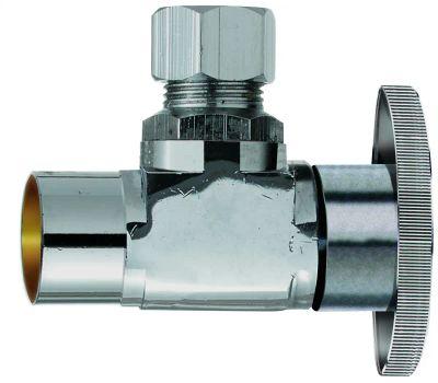 Plumb Pak PP20060LF 1/2 Compression Sweat By 3/8 Quarter Angle Valve