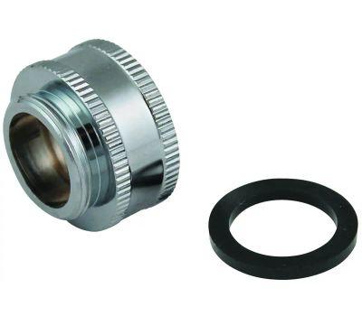 Plumb Pak PP800-64LF Faucet Aerator Adapter, 3/4-11.5 X 55/64-27 in, Threaded, Chrome