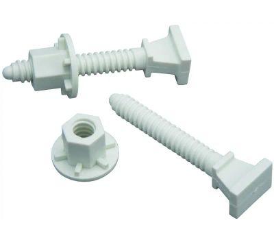 Plumb Pak PP835-19 2 3/8 Inch Toliet Bolts Open Cap Nut