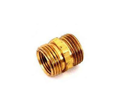 Plumb Pak PP850-61 Hose Adapter, 3/4 X 3/4 X 1/2 in, Mht X Mip X Fip, Brass, for: Garden Hose