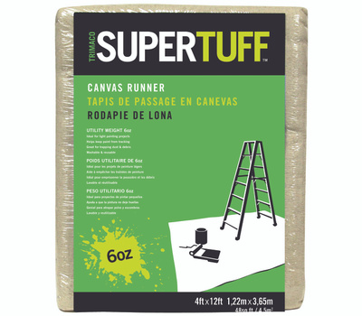 Trimaco 56707 Supertuff Drop Cloths Light Weight Canvas 4 Foot By 12 Foot Tufpro