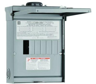 Square D HOM612L100RBCP Homeline 100 Amp Main Lug Load Center