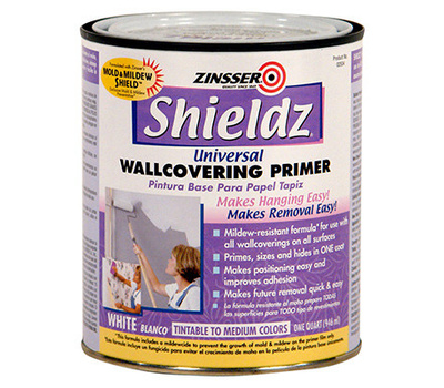 Zinsser 02504 Shieldz Universal Wallcovering Primer Sealer Water-Based Quart