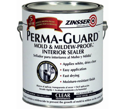 Zinsser 02681 Permaguard Mold & Mildew-Proof Clear Sealer Gallon Water-Base