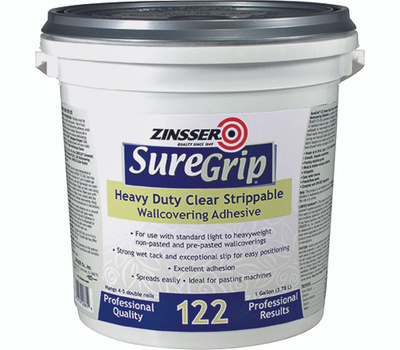 Zinsser 02881 Sure Grip Heavy Duty Clear Strippable Wallcovering Adhesive Gallon
