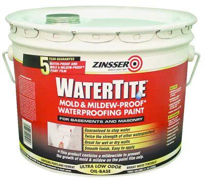 Zinsser 05003 Watertite Mold & Mildew-Proof Oil-Based Waterproofing Paint 3 Gallon