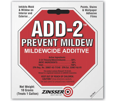 Zinsser 60511 ADD-2 Prevent Mildew Mildewcide Additive 10 Gram