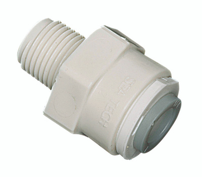 Watts Water PL-3006 Pipe Adapter, 1/4 X 3/8 in, Compression X Mpt, Plastic, 150 Psi Pressure