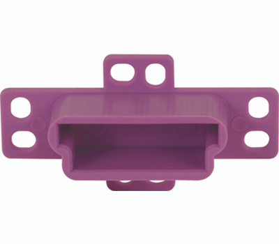 Prime Line R7133 22844 Drawer Track Backplate 3/4 Inch By 2-3/4 Inch Nylon Steel Plastic Purple