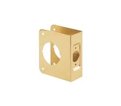 Prime Line U9544 Defender Security Deadbolt Door Reinforcer 1-3/4 Inch Thick By 2-3/8 Inch Backset 2-1/8-Inch Bore Brass
