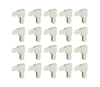 Prime Line PL14336 Mobile Home Screen Square Frame Corner 1/4 By 5/8 Inch White 20 Pack