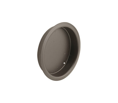 Prime Line N7205 Recessed Round Cup Pulls 1-3/4 Inch Bronze Finish 2 Pack