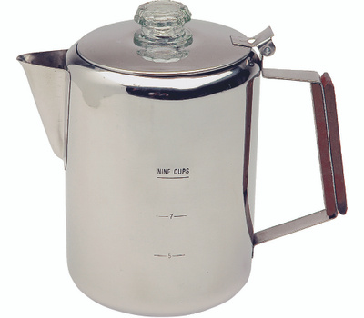 Texsport 13215 Percolator, 9 Cups Capacity, Stainless Steel