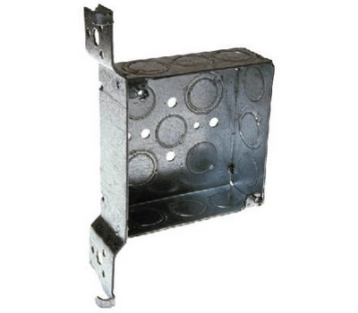 Raco 8197 Box Outlet Stl 4in Sq Fh Brkt