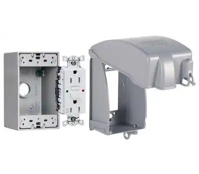 Raco MKG4280SS Mtl Vert Receptacle Kit