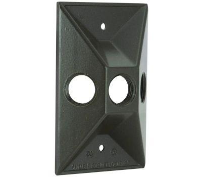 Hubbell 5189-2 Bell Rectangular Cover 3 1/2 Inch Bronze