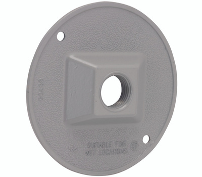 Hubbell 5193-0 Bell Round Lampholder Cover Gray