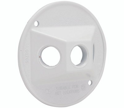 Hubbell 5197-6 Bell Round Lampholder Cover White
