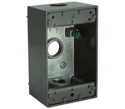 Hubbell 5320-2 Bell Rectangular Box 1 Gang 3 1/2 Inch Bronze