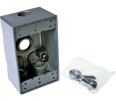 Hubbell 5321-0 Bell 1 Gang Aluminum 4 Outlet Box Gary