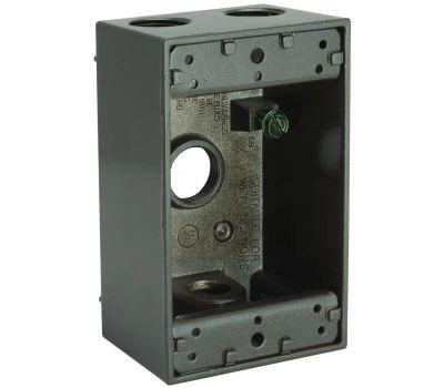 Hubbell 5321-2 Bell Rectangular Box 1 Gang 4 1/2 Outlets Bronze
