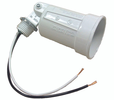 Hubbell 5606-6 Bell Weatherproof Lampholder White