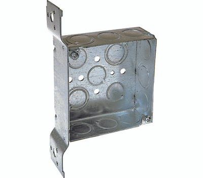 Raco 8196 4 Inch Square Box/Bracket1 1/2 Inch Deep
