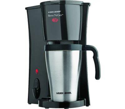 Applica DCM18S Black & Decker Brew N Go Coffeemaker With Silver Thermal Mug