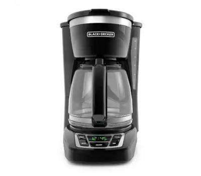 Applica CM1160B Coffee Maker, 12 Cup Capacity, 975 W, Glass/Plastic, Black, Button Control