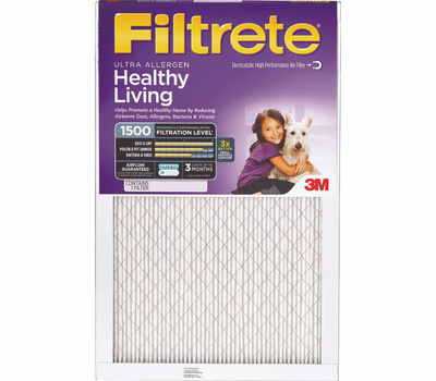 3M 2028DC-6 Filtrete Healthy Living Ultra Allergen Filters 18 Inch By 30 Inch By 1 Inch