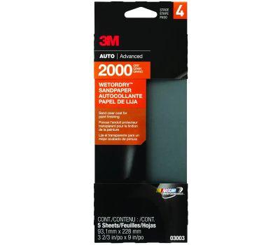 3M 03003 Sandpaper W/D 2000g 3-2/3x9in